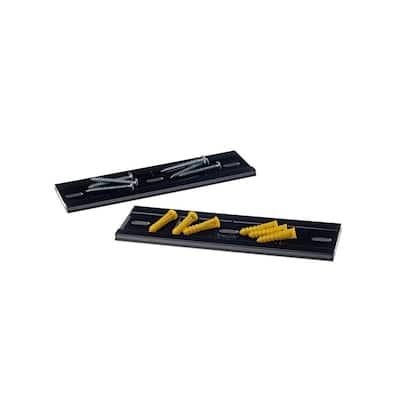 8-3/4 in. L x 3-1/4 in. W x 1/4 in. H LocBin Polypropylene Bin Wall Hangers with Hardware (2-Pack)
