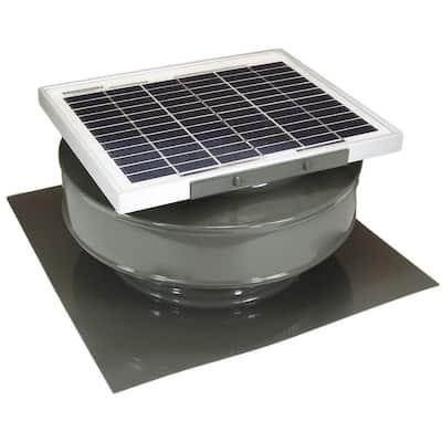 365 CFM Weatherwood Powder Coated 5-Watt Solar Powered Roof Mounted Exhaust Attic Fan