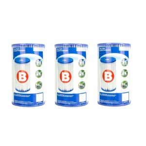 5.75 in. Dia Type B Pool Replacement Filter Cartridge (3-Pack)
