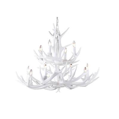 White Antler Chandeliers Lighting, Modern White Antler Chandelier