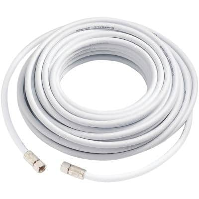 50 ft. RG6 Coax Cable in White