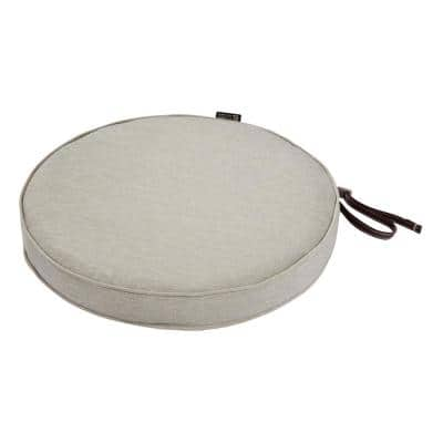 Montlake Fade Safe Heather Grey 18 in. Round Outdoor Seat Cushion