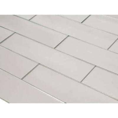 Reflections Peel and Stick Silver Straight Edge 3 in. x 12 in. Glass Mirror Subway Wall Tile (11 sq. ft./case)
