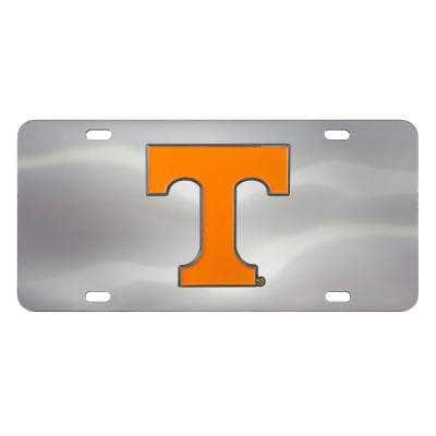 6 in. x 12 in. NCAA University of Tennessee Stainless Steel Die Cast License Plate
