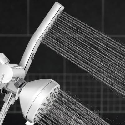 12-spray 5 in. High PressureDual Shower Head and Handheld Shower Head in Chrome