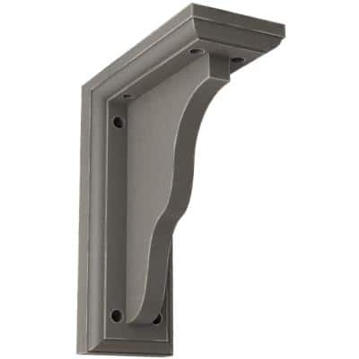 3-1/2 in. x 9 in. x 7 in. Reclaimed Grey Hamilton Traditional Wood Vintage Decor Bracket