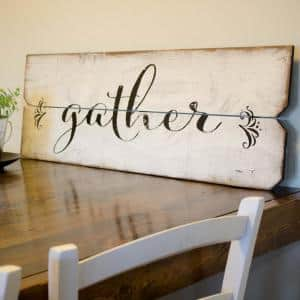 12 in. x 36 in. ''Gather'' By Boulder Innovations Printed Wall Art