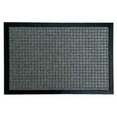 Nottingham Charcoal 36 in. x 60 in. Rubber Backed Carpet Mat
