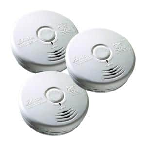 10 Year Worry-Free Sealed Battery Combination Smoke and Carbon Monoxide Detector with Photoelectric Sensor (3-Pack)
