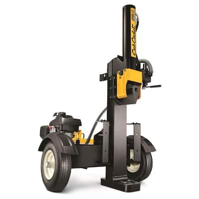 25-Ton 160cc Gas Honda Powered Log Splitter with Vertical or Horizontal Operational Options
