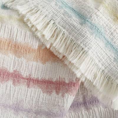 Tie Dye Cotton Summer Throw Blanket
