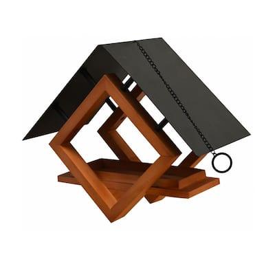 Architect Hanging Wood Bird Feeder - 1/4 Cup Capacity