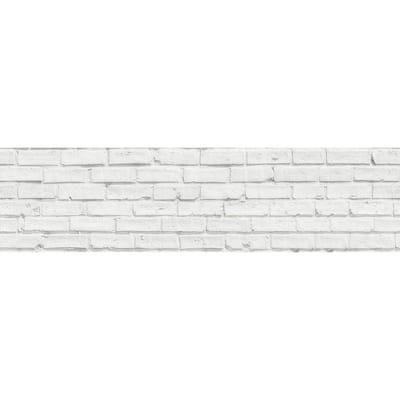 White Bricks Peel and Stick Backsplash Wall Decal