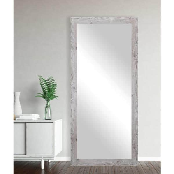 Oversized White Composite Rustic Mirror 70 5 In H X 31 5 In W Vv059 26 65 The Home Depot