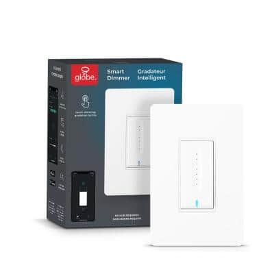 Wi-Fi Smart Single Pole Dimmer Switch, No Hub Required, Voice Activated in White