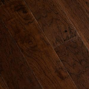 Hand Scraped Distressed Alvarado Hickory 1/2 in.x 5 in.Varying Length Engineered Hardwood Flooring (26.25 sq. ft./case)