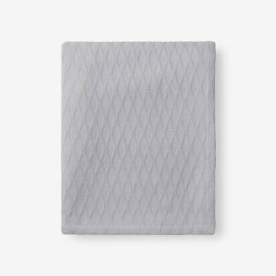 Cotton Bamboo Gray Woven Throw Blanket
