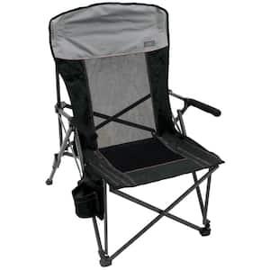 Hard-Arm Charcoal Quad Chair