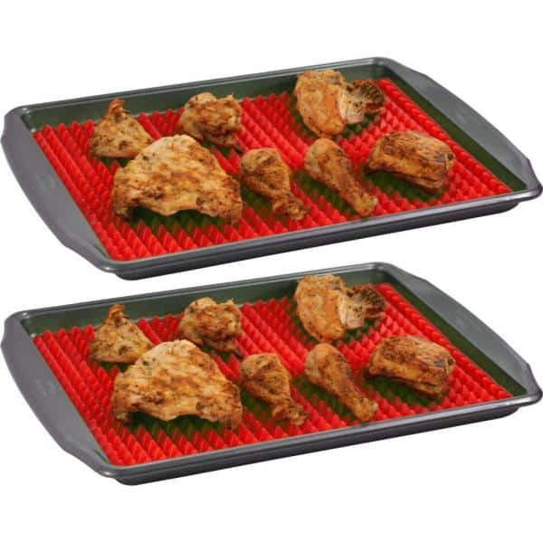Southern Homewares - Healthy Homewares Red Silicone Baking Sheet (2-Pack)