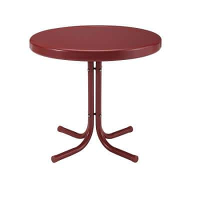 Griffith Red Metal Outdoor Side Table