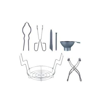 7 Piece Premium Stainless Steel Canning Cookware Set Starter Kit with Rack, Tongs, Wrench, Lid Lifter