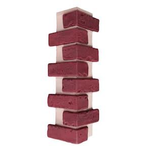 22.5 in. x 7 in. Deep Red Brick Veneer Siding Outside Corner Panel