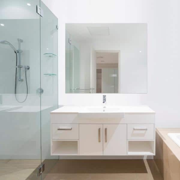 Glacier Bay 36 In W X 42 In H Frameless Rectangular Bathroom Vanity Mirror In Silver 81181 The Home Depot