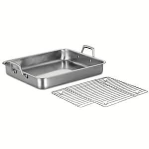 Gourmet Prima 9.5 Qt. Stainless Steel Roasting Pan