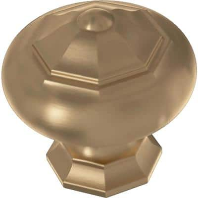 Finial 1-1/4 in. (32mm) Champagne Bronze Round Cabinet Knob