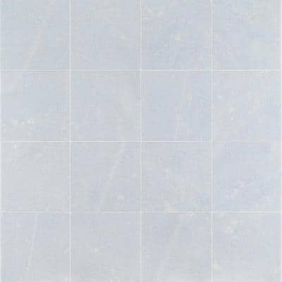 Raven Blue Celeste 12 in. x 12 in. Polished Marble Floor and Wall Tile (10 sq. ft./Case)