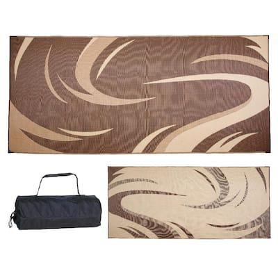 8 ft. x 18 ft. Swish Brown/Tan Reversible Mat