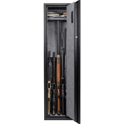 5-Gun Large Quick Access Keypad Biometric Rifle Safe