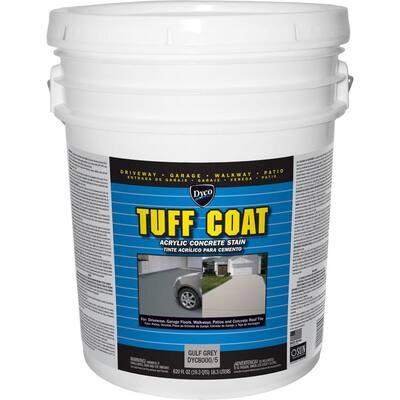 Tuff Coat 5 gal. 8000 Gulf Grey Low Sheen Exterior Waterborne Acrylic Concrete Stain
