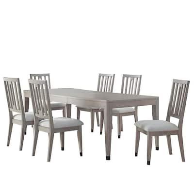 Fordham Light Gray 7-Piece Dining Set