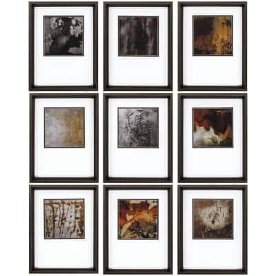 """18 in. x 14 in. """"Burnished PK/9"""" Framed Wall Art"""