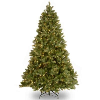7 ft. Feel Real Downswept Douglas Fir Hinged Tree with 700 Clear Lights