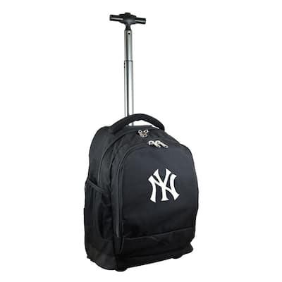 MLB New York Yankees 19 in. Black Wheeled Premium Backpack