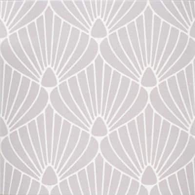 Epoque Shell Lavender/White 8 in. x 8 in. Matte Ceramic Floor and Wall Tile (12.7 sq. ft./Case)