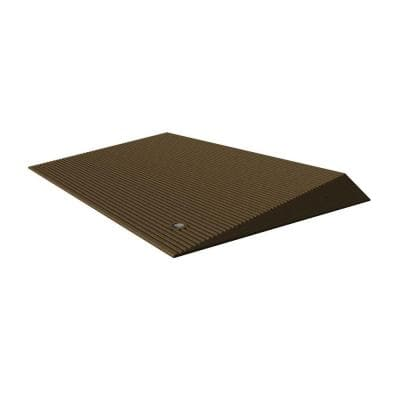 TRANSITIONS Angled Entry Door Threshold Mat, Brown, Rubber, 25 in. L x 40 in. W x 2.5 in. H