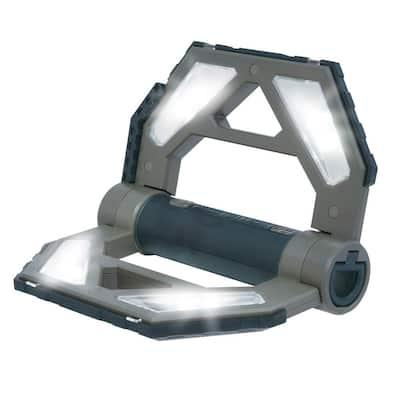 10-Watt 400-Lumen Dark Gray Rechargeable Folding LED Work Light