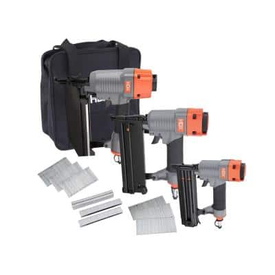 Pneumatic Finishing Nailer Kit with Canvas Bag (3-Piece)