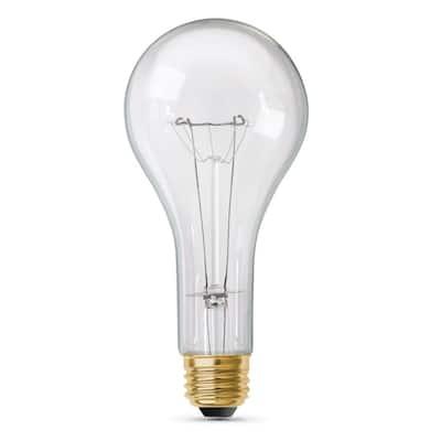 300-Watt High Lumen Clear PS25 Medium E26 Soft White (2700K) Utility Incandescent Light Bulb (1-Bulb)