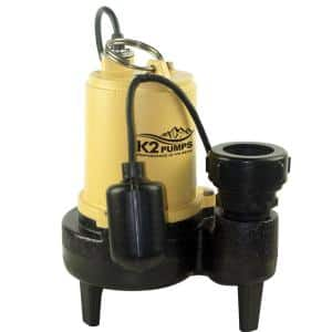 3/4 HP Submersible Sewage Ejector Pump with Tether Switch