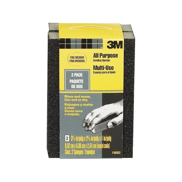 Fine Ultra Fine Super Fine Washable Resuable Sanding Sponges Pack of 3 - Fine