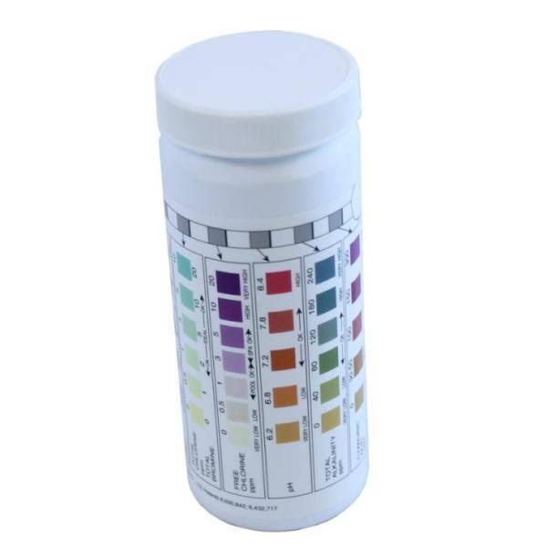 Aquachek 7 In 1 Silver Swimming Pool Spa Chlorine Ph Test Strips 2 X 551236 The Home Depot