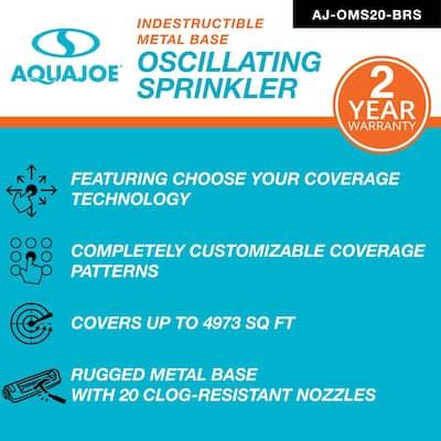 4973 sq. ft. Indestructible Metal Base Oscillating Sprinkler