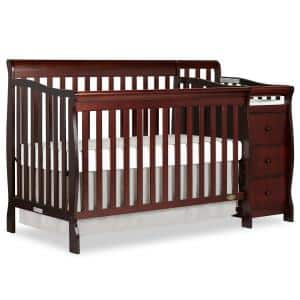 Brody Espresso 5-in-1 Convertible Crib with Changer