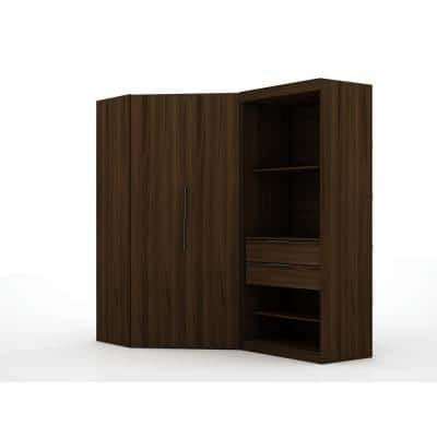Ramsey 2.0 Brown Semi Open 2-Sectional Corner Closet (Set of 2)