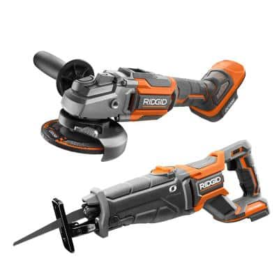 18V Cordless 2-Tool Combo Kit with OCTANE Brushless Reciprocating Saw and OCTANE 4-1/2 in. Angle Grinder (Tools Only)
