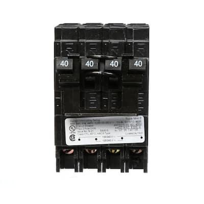 (2) 40 Amp Double-Pole Type MP-T Quadplex Plug-In Circuit Breaker